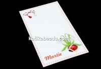 Carton martisor, ghiocei, 9.2x5.4cm- x50