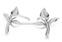 Earring findings tulips, 925 silver- x1pair