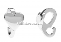 Extension system, pendant bail, 925 silver, 8mm - x1