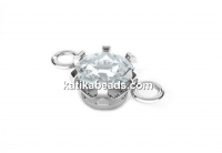 Link crystal, 925 silver, 13mm - x1