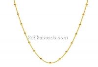 Chain, with balls, gold plated 925 silver, 45cm - x1