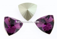 Swarovski, kaleidoscope triangle fancy rivoli, amethyst, 14mm - x1