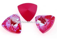 Swarovski, kaleidoscope triangle f. rivoli, lotus pink DeLite, 9mm - x1