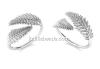 Ring leafs, 925 silver, adjustable - x1