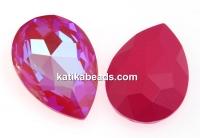 Swarovski, rivoli cabochon, lotus pink delite, 30x20mm - x1