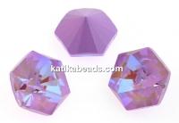 Swarovski, fancy Kaleidoscope hexagon, lavender delite, 14mm - x1
