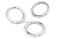Soldered jump rings, 925 silver, 5x1mm - x10