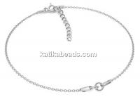 Bracelet for kids for link, 925 silver, 10+3cm - x1