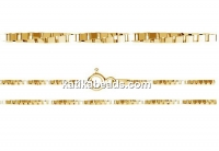 Bracellet twisted, gold-plated 925 silver, 19cm - x1