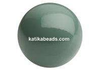 Preciosa pearl, sage, 6mm - x100