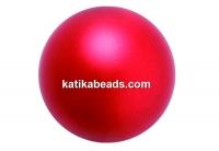 Preciosa pearl, red, 6mm - x100
