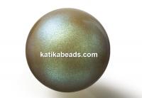 Preciosa pearl, pearlescent khaki, 6mm - x100
