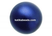 Preciosa pearl, dark blue, 8mm - x50