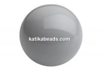 Preciosa pearl, ceramic grey, 4mm - x100