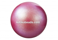 Preciosa pearl, pearlescent red, 12mm - x10