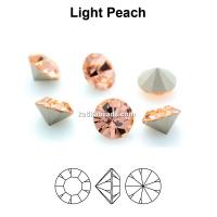 Preciosa chaton, light peach, 6mm - x4