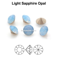 Preciosa chaton, light sapphire opal, 8mm - x2