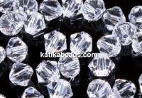 Preciosa, bicone bead, crystal, 4mm - x40