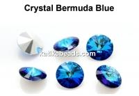 Preciosa rivoli, bermuda blue, 10mm - x2