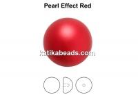 Preciosa, crystal pearl cabochon, red, 10mm - x2