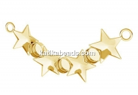 Link base,  gold plated 925 silver, ceralun, fancy star 10mm- x1
