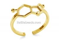Ring serotonina, gold plated 925 silver, adjustable - x1