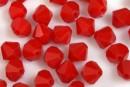 Swarovski, faceted bicone, dark red coral, 6mm - x10