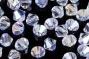 Swarovski, bicone bead, crystal aurora borealis, 4mm - x20