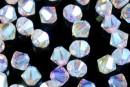 Swarovski, bicone bead, aurore boreale AB2x, 6mm - x10