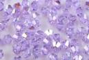 Swarovski, bicone bead, violet AB, 4mm - x20