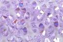 Swarovski, bicone bead, violet AB, 6mm - x10