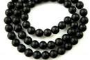 Onix, matt black, round, 4mm