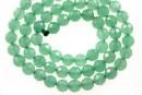 Green aventurine, faceted round, 6mm