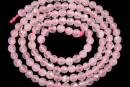 Pink quartz, faceted round, 3.3mm