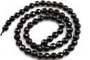 Onix, black, faceted round, 4.5mm