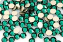 Swarovski, rhinestone ss12, emerald, 3mm - x20