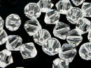 Swarovski, bicone bead, crystal clear, 6mm - x10