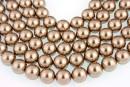 Swarovski pearl, bronze, 6mm - x100