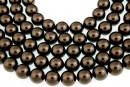 Swarovski pearl, brown, 4mm - x100