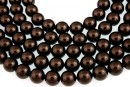 Swarovski pearl, deep brown, 4mm - x100