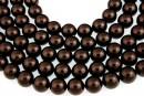 Swarovski pearl, deep brown, 4mm - x100