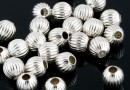 Decorative beads, 925 silver, 3mm - x10