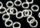Jump rings, double, 925 silver, 5mm - x10