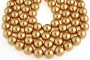 Swarovski pearl, bright gold, 8mm - x50