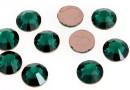 Swarovski, cabochon hotfix, emerald, 6mm - x4