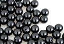 Swarovski one hole pearls, black, 5mm - x4