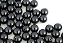 Swarovski one hole pearls, black, 5mm - x4