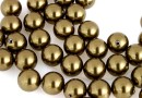 Swarovski one hole pearls, antique brass, 8mm - x2