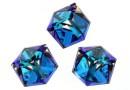 Swarovski, cube cabochon, bermuda blue, 6mm - x1