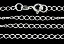 Chain, 925 silver, big jump rings, 60cm - x1